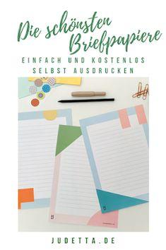 Stylische Briefpapier Freebies zum Ausdrucken Doodle Fonts, Freebies, Diy Letters, Free Printables, Doodles, Diagram, Chart, Lettering, Blog