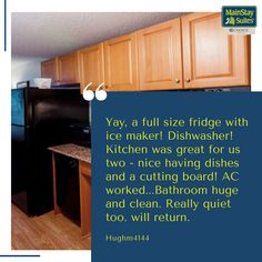#testimonial . #testomonial #happycustomer #happy #mainstaysuites #knoxville #hotel #motel #suites#Tennessee #stay #contactusnow📲 #book #booknow‼️ @mainstayknoxville Kitchen Cabinets, Kitchen Appliances, Hotel Motel, Tennessee, Dishwasher, Dishes, Book, Happy, Home Decor