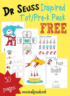 Even the littlest ones will enjoy Dr. Seuss' birthday with this fun and FREE Tot Pack and Emergent Readers in 4 levels!! :: www.mamagoesfrugal.com