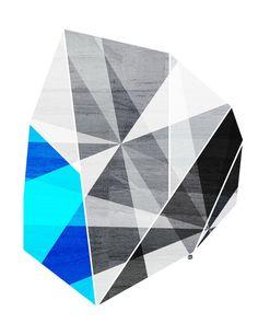 Graphite, (Geometric Stone) 8X10 Art Print