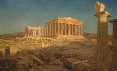 The Parthenon; Artist: Frederic Edwin Church (American, Hartford, Connecticut 1826–1900 New York) Date: 1871 Medium: Oil on canvas Dimensions: 44 1/2 x 72 5/8 in. (113 x 184.5 cm) Classification: Paintings Credit Line: Bequest of Maria DeWitt Jesup, from the collection of her husband, Morris K. Jesup, 1914