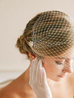 Wedding bandeau veil bandeau birdcage veil russian by louloudimeli