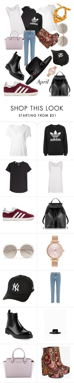 """""""Senza titolo #1497"""" by annmichaela ❤ liked on Polyvore featuring R13, adidas, Alexander McQueen, AllSaints, adidas Originals, Le Parmentier, Chloé, Ted Baker, New Era and Acne Studios"""