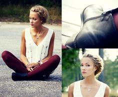 Side crown braid on Petra Karlsson