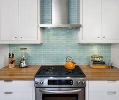 Modern Galley Style Light Blue kitchen, white cabinets, $50,000 - $100,000, Hello Kitchen, Austin