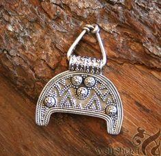 LUNULA Pendant . Viking Birka . Silver replica