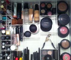 Interior Drawer Makeup Organization