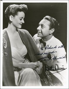 """Bette Davis and Paul Henreid from """"Now Voyager""""-wonderful old film and amazing outfits!"""