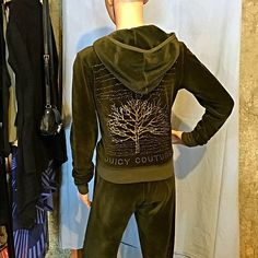 Juicy Couture Sweat Suit Jacket & Pant ✨Excellent used condition ✨ Both jacket & pant suit. Soft and fabulous! This timeless piece is exquisite. On a casual comfy couch driven day or maybe running errands around town this quality couture piece is perfect for all of it! The gold tree & Juicy Couture on the back of the jacket is gold leaf designed to look crackly. Well cared for like new outfit. Juicy Couture Tops Sweatshirts & Hoodies