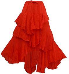 Bonya Women's Bohemian/Hippies Ruffle Maxi Long Skirt (Orange) Bonya Collections http://www.amazon.com/dp/B01497MK7K/ref=cm_sw_r_pi_dp_6Zppwb1BZ6TG4