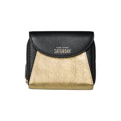 Square A Wallet in Metallic Gold - Kate Spade Saturday