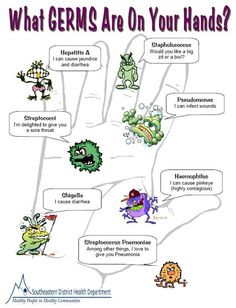 Quick visual of germs