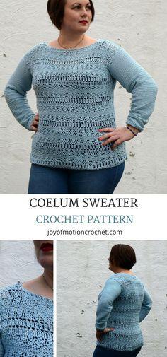 Coelum sweater crochet pattern. Crochet sweater sleeves. Crochet sweater easy. Crochet sweater lacy. Crochet sweater for women. #crochetpattern #crochetsweater #sweatercrochetpattern #crochet #crochetforher