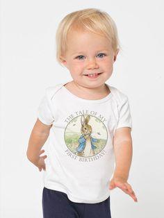 Peter Rabbit First Birthday Shirt by DesignsbyCassieCM on Etsy