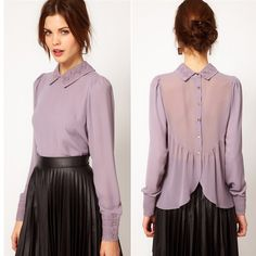 Cheap blouse with short sleeves, Buy Quality blouse striped directly from China shirt el Suppliers: 2016 spring new Korean style cultivating wild high collar hedging long sections bo Fall Fashion Outfits, Hijab Fashion, Fashion Dresses, Blouse Dress, Dress Skirt, Hijab Stile, Le Polo, Vetement Fashion, Beautiful Blouses