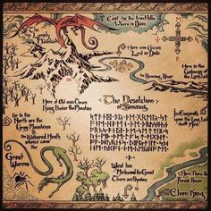 jrr tolkien hobbit map at DuckDuckGo Jrr Tolkien, Lotr, The Hobbit Map, Shire Hobbit, Hobbit Book, Middle Earth Map, Fantasy Map, Fantasy Dragon, Thranduil