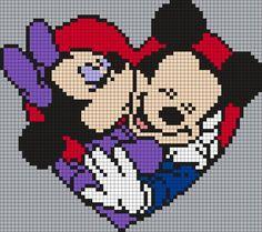 Minnie And Mickey Perler Bead Pattern / Bead Sprite