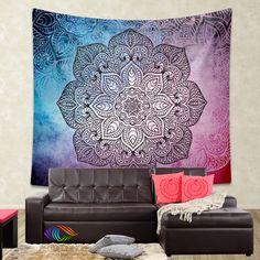 Bohemian Tapestry, Mandala tapestry wall hanging, bohemian decor, bohochic vintage mandala decor