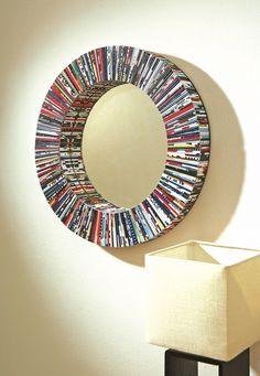 Magazine mirror | jebiga | #upcycled #mirror #decor #walldecor #diy #crafts #ideas #jebiga