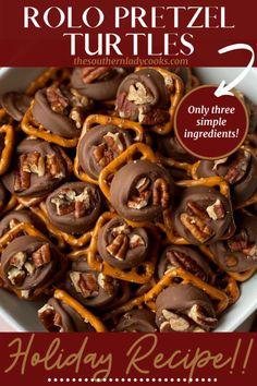 Rolo Pretzels, Rolo Cookies, Pretzels Recipe, Candy Cookies, Nut Recipes, Candy Recipes, Holiday Recipes, Holiday Foods, Holiday Treats