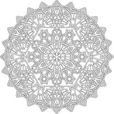 Creative Haven Snowflake Mandala Colouring Book @ Dover Publications Pattern Coloring Pages, Mandala Coloring Pages, Coloring Book Pages, Printable Coloring Pages, Coloring Sheets, Coloring Pages For Grown Ups, Free Adult Coloring Pages, Mandala Art, Deco Boheme