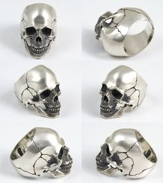 Rakuten: 2 real scull ring silver accessories ring sculls- Shopping Japanese products from Japan