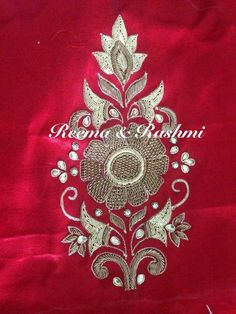 This Pin was discovered by Mad Zardozi Embroidery, Hand Work Embroidery, Couture Embroidery, Embroidery Suits, Hand Embroidery Designs, Beaded Embroidery, Embroidery Patterns, Bird Embroidery, Gold Work