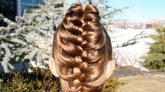 Cage Braid Ponytail | Popular Braids | Cute Girls Hairstyles, via YouTube.