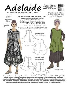 Adelaide (Small sizes) PDF sewing pattern