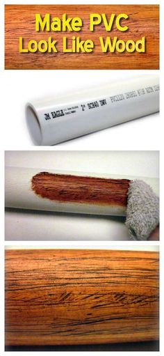 A Genius Idea to Make PVC Look Like Wood A Genius Idea to Make PVC Look Like Wood. Could this be the solution to making pvc-based hydroponic setups look less ugly? The post A Genius Idea to Make PVC Look Like Wood appeared first on Woodworking Diy. Pvc Pipe Projects, Diy Wood Projects, Wood Crafts, Projects To Try, Art Crafts, Pvc Pipe Crafts, Outdoor Wood Projects, Diy Projects For Men, Diy Pipe