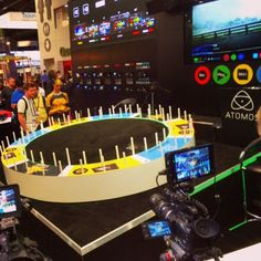 Wait a minute. Is that a ring toss game at the Atomos booth? #NABShow #Atomos
