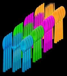 75 best blacklight party tableware and serving images on pinterest