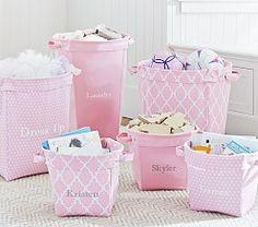 Pink Gray Cameron Playroom Pottery Barn Kids Baby Room Storage Nursery
