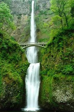 Multnomah Falls, OR....i have actually seen this, have walked across this bridge