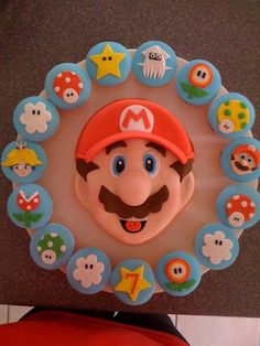 super mario cake and cupcakes  Cakeage