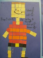Best Ideas for Teaching Math! / Fraction people- could work for decimals and percents too!
