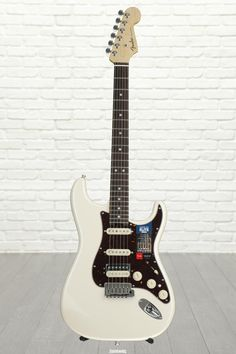 6-string Electric Guitar with Select Alder Body, Maple Neck, Rosewood Fingerboard, and 2 Noiseless Single-coil Pickups with Shawbucker Humbucker - Olympic Pearl