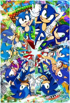 :Sonic 25th:  KALEIDOSCOPE by Feniiku.deviantart.com on @DeviantArt