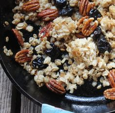 Pan-Fried Oats with Sour Cherries