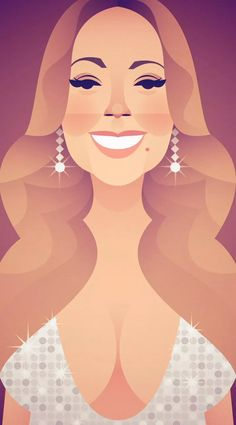 Mariah for Variety magazine by Stanley Chow Flat Illustration, Character Illustration, Stanley Chow, Figure Sketching, Celebrity Caricatures, Communication Art, Chow Chow, Art Images, Painted Rocks