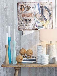 Wenn Holz auf Farbe trifft, entsteht eine attraktive Liaison, die mit ihrer Natürlichkeit hell erstrahlt