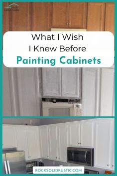How to paint builder grade kitchen cabinets the right way to save time and money. - How to paint builder grade kitchen cabinets the right way to save time and money. This DIY project - Diy Kitchen Remodel, Diy Kitchen Cabinets, Kitchen Paint, Kitchen Makeovers, Kitchen Counters, Kitchen Worktop, Kitchen Backsplash, Annie Sloan Kitchen Cabinets, Diy Kitchen Makeover