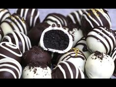 These Oreo Truffles are mouthwatering bite-size treat everyone will love! These homemade oreo balls are coated in chocolate and decorated with sprinkles and drizzle for a stunning presentation. Perfect for a party and also as DIY gifts. See how to make them!