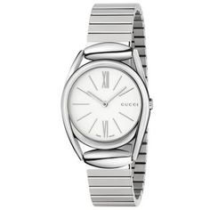 Gucci Women's Horsebit Quartz Silver Band White Dial