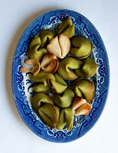 Desserts for Breakfast: (mis)Fortune Cookies: Matcha-Orange Flower and Brown Butter