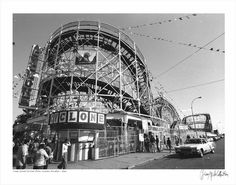Coney Island's 'Cyclone' roller coaster circa 1977
