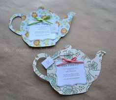 Make tea party invitations.  Template & instructions available.  DIY paper crafts for cards & decorations. {No sé para qué exactamente lo podremos usar, pero tal vez se nos ocurre algo :)}