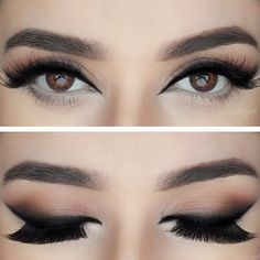 black Cat liner @sadiiyah | top-heavy eye makeup with a smokey arabic winged eyeliner