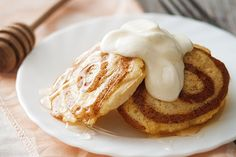 Our Cinnamon Bun Pancakes are clean, gluten-free, and dairy-free. Best of all, they taste like you're eating a cinnamon bun!