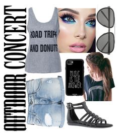 """""""Concert #60secondstyle #outdoorconcert"""" by landi-ruthven on Polyvore featuring Armani Jeans, Linda Farrow, Aerosoles, Casetify, 60secondstyle and outdoorconcerts"""